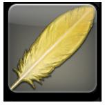 FF14の友達招待キャンペーンで、招待者がもらうことの出来る特典アイテム「ゴールドチョコボの羽」のアイコン。