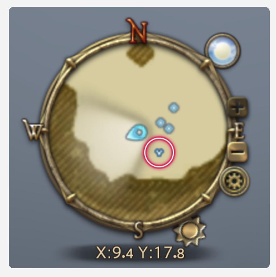 パッチ4.3でマップに表示されるペットのアイコンが、パーティメンバーと区別がつく形に変更された。(FF14)