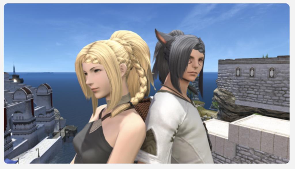 パッチ4.35で追加された新しい髪型のスクリーンショット。(FF14)