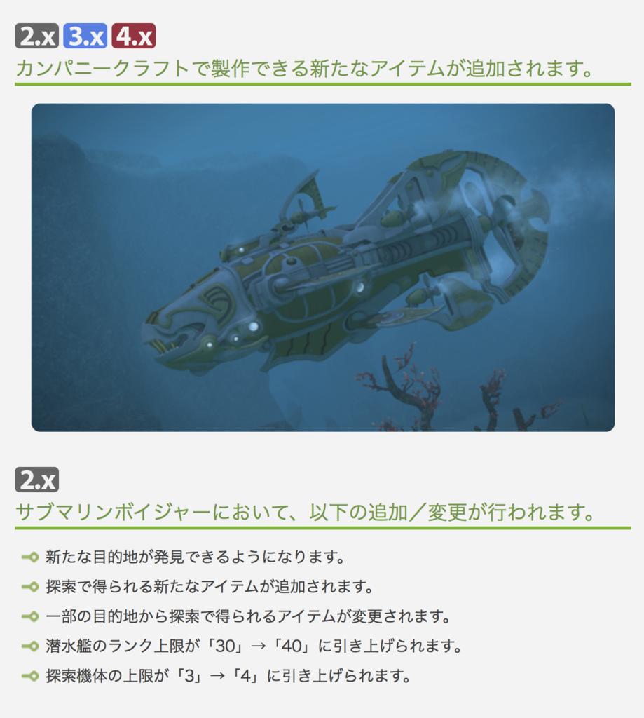 パッチ4.4のパッチノートから抜粋した更新内容が書かれた画像。(FF14)