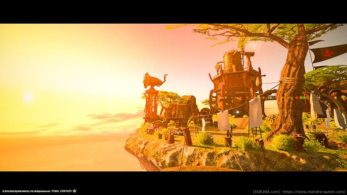 雲海の浮島で撮影した風景SS。(FF14)