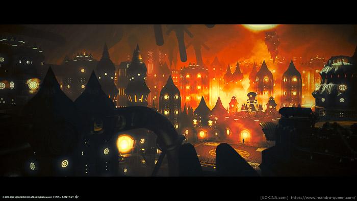 機工城アレキサンダー内部で撮影した風景SS。(FF14)