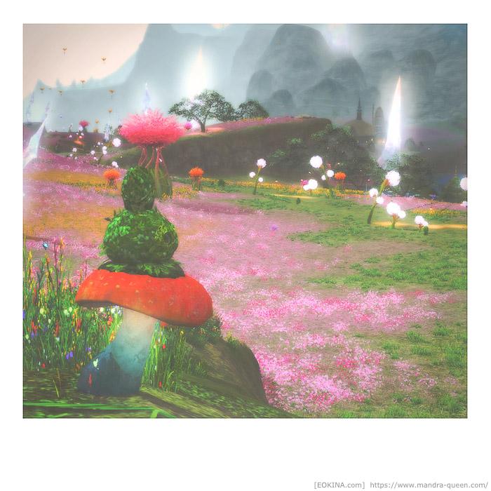 イル・メグで撮られたインスタント写真風のスクリーンショット。(FF14)