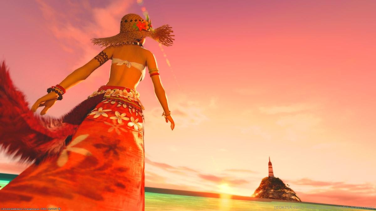ゲーム内グループポーズで撮影後、未処理の「常夏のコスタ・デル・ソル」