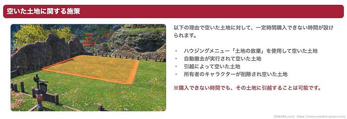 現在のハウジングガイドには、引越後の土地にも購入制限が付くことが明記されている。
