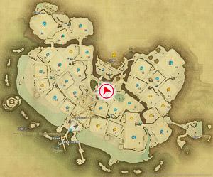 画像「アパルトメント」を撮影した位置と向きを示したマップ。