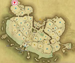 画像「山の温泉「白雲之湯」」を撮影した位置と向きを示したマップ。