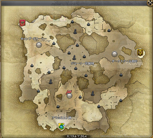 フィールド・オブ・グローリー(砕氷戦)の全体マップ