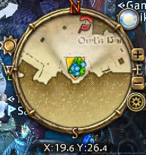 画面上に表示されているナビマップ