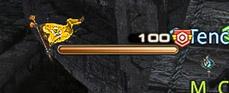 敵を倒し戦意ゲージが100になり、戦意高揚Vがついている状態のゲー