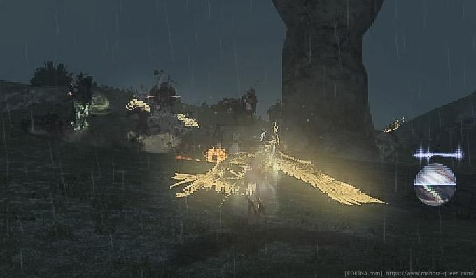 さらに一部を拡大した画像。敵部隊のプレイヤーを多数確認できる