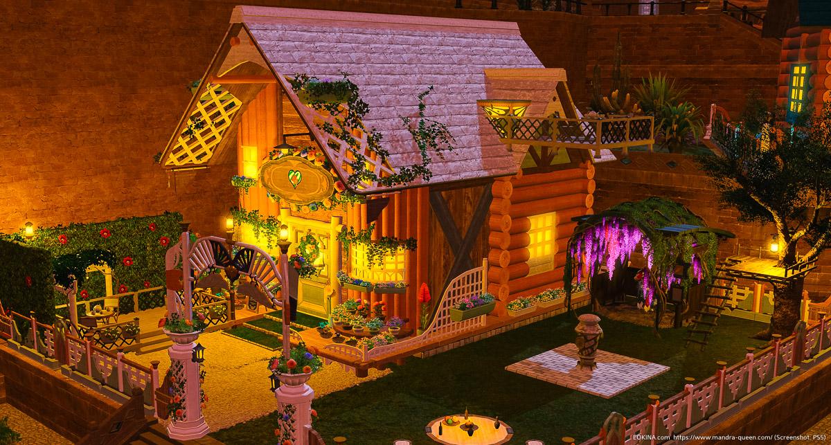 ハウジングSサイズの庭(フローリストコテージウォール)