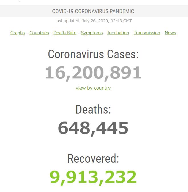 コロナウィルス 感染者数
