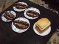 シュトレンとパン焼き機のパン