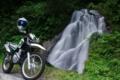 [滝][山梨][バイク]長尾の滝