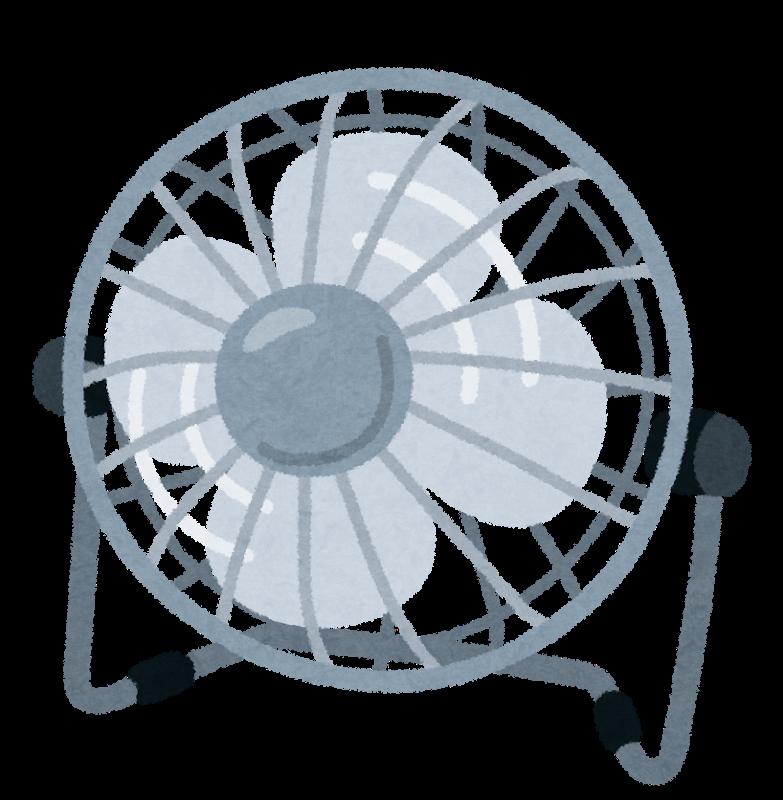 卓上扇風機のイラストn