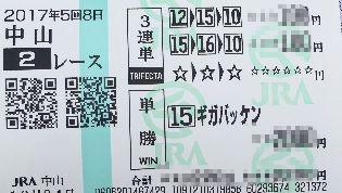 中山2R-3連単-単勝