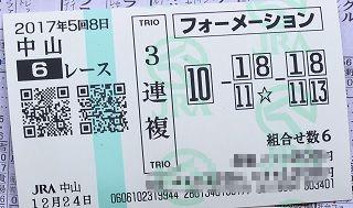 中山6R-3連複