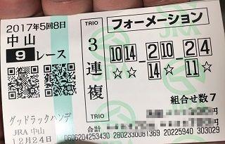 中山9R-3連複
