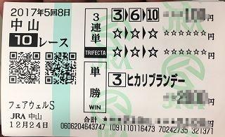 中山10R-3連単-単勝