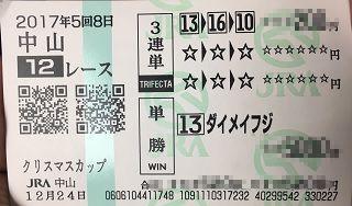 中山12R-3連単-単勝