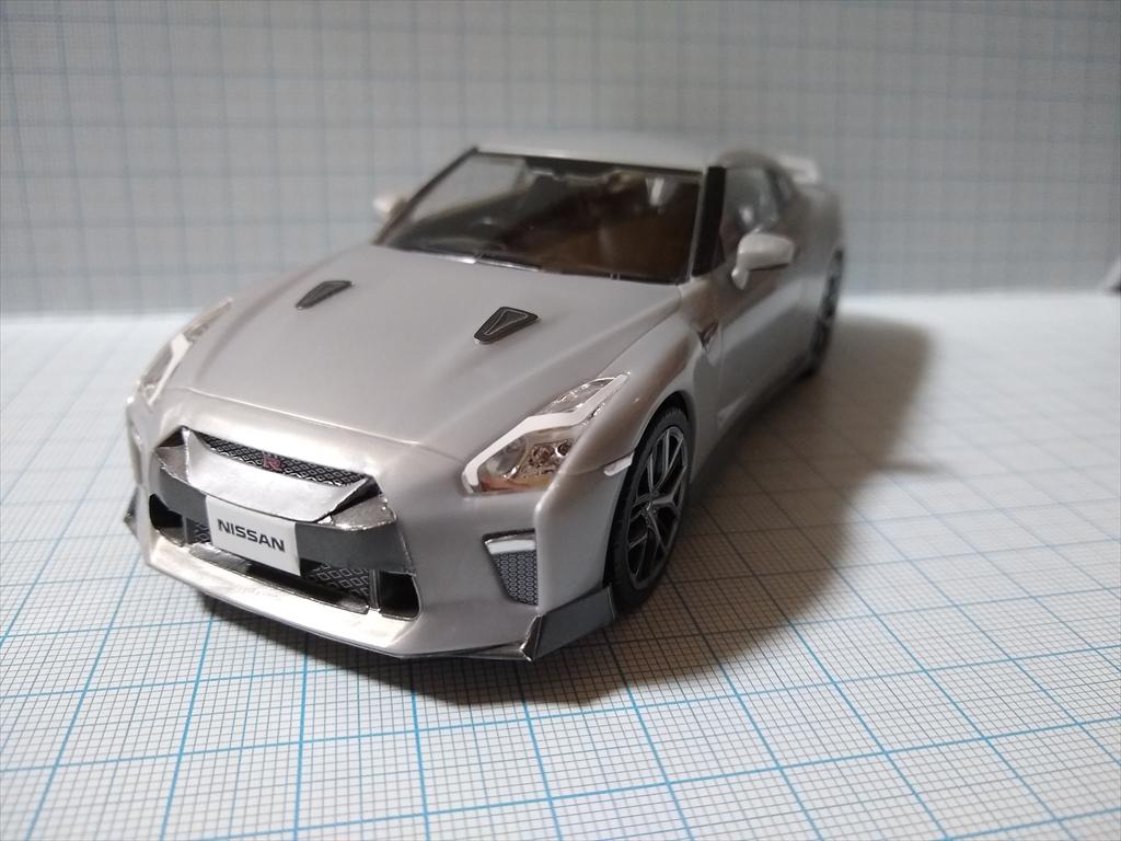 アオシマ ザ・スナップ キット NISSAN GT-R/アルティメイトメタルシルバーの画像