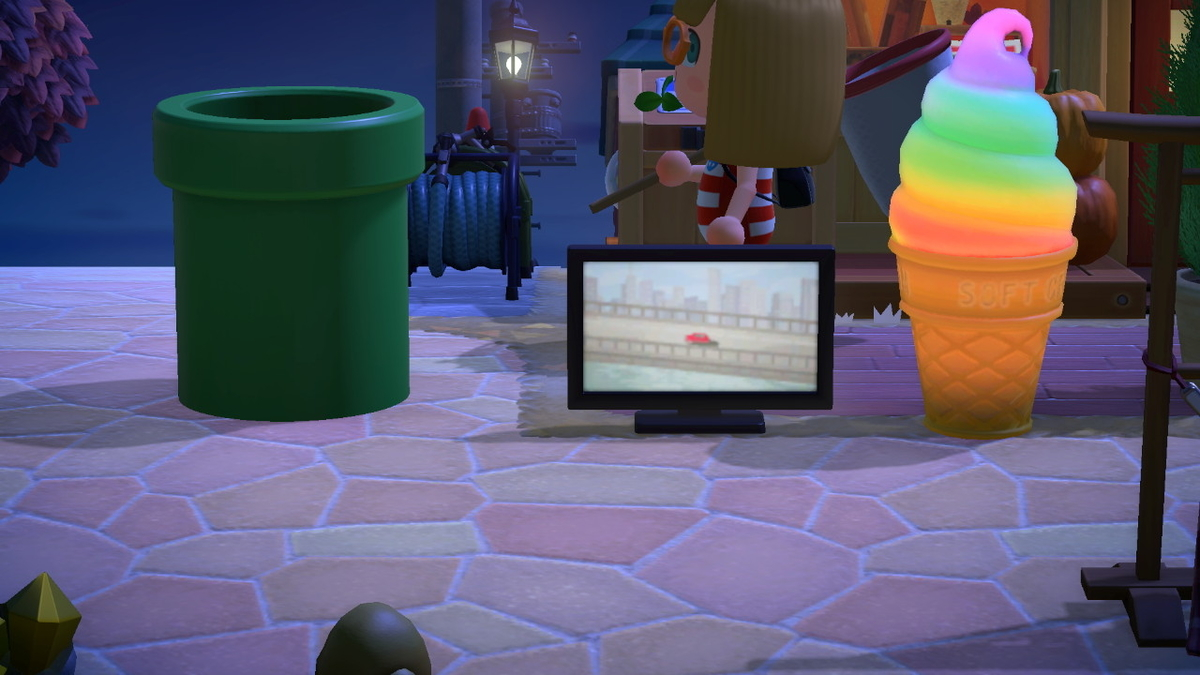ニンテンドースイッチ あつまれどうぶつの森 家具のテレビは今回もいい感じですが‥の画像1