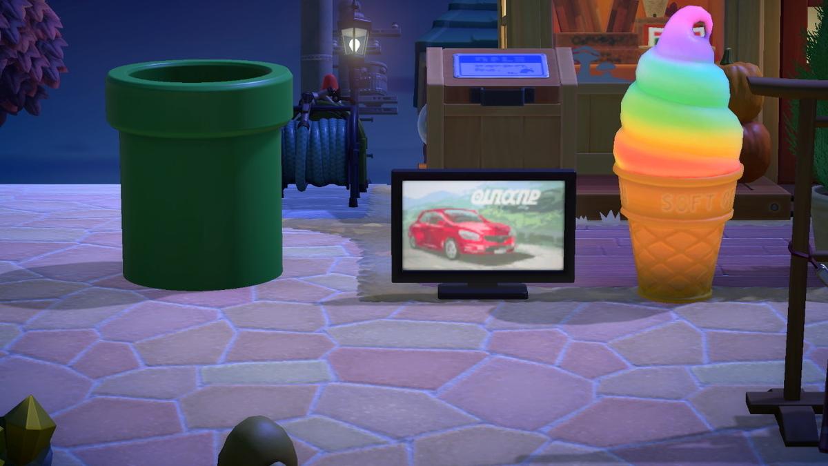 ニンテンドースイッチ あつまれどうぶつの森 家具のテレビは今回もいい感じですが‥ の画面2