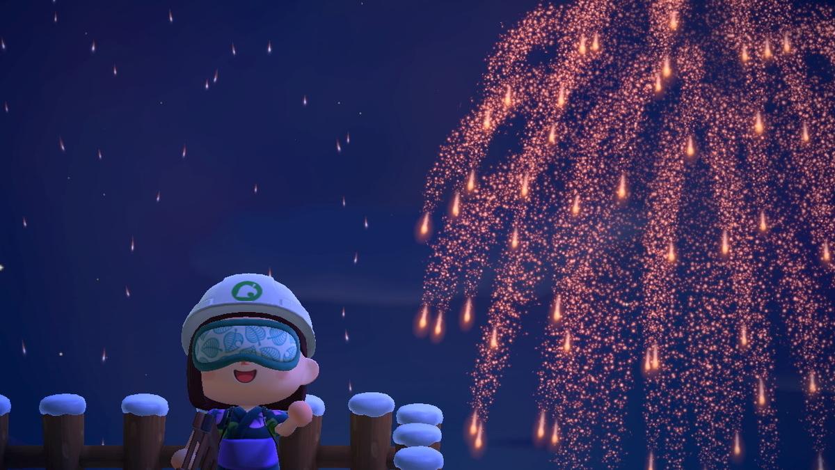 あつまれどうぶつの森 打ち上げ花火、近くで見るか、遠くで見るか・・の画像3