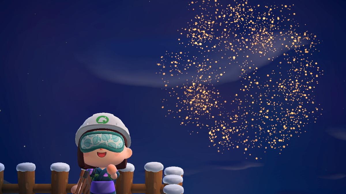 あつまれどうぶつの森 打ち上げ花火、近くで見るか、遠くで見るか・・の画像2