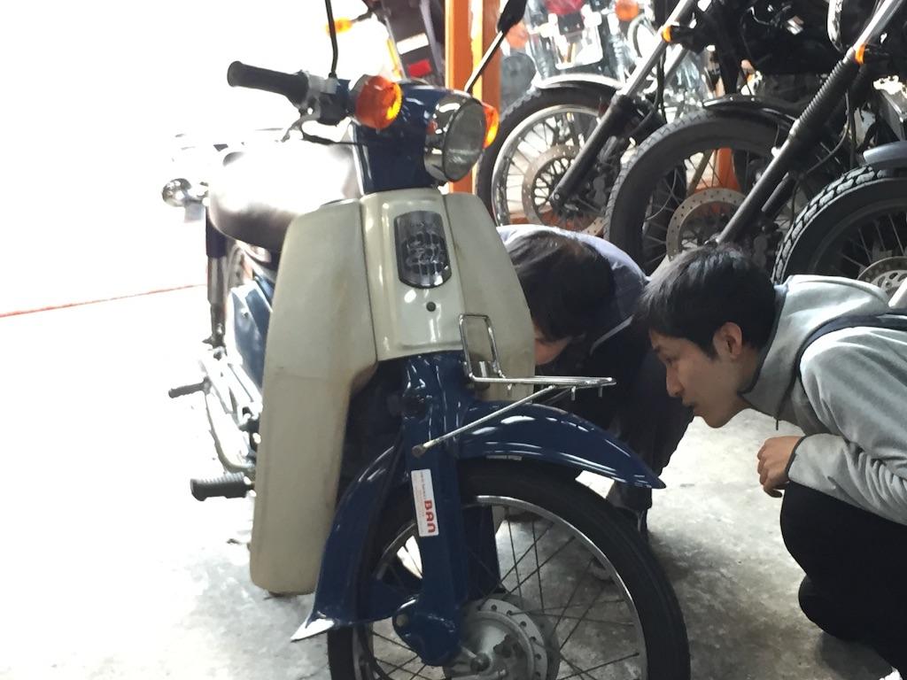 バイク各部機能説明と今後の整備等について説明