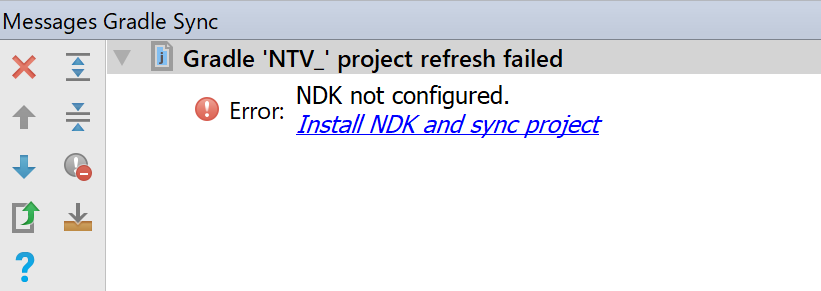 NDKがない