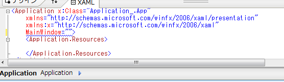 MainWindowは文字列で指定できない