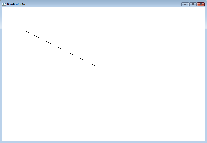 ベジェ曲線どころか直線