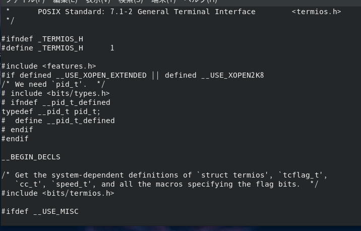 bits/termios.hにありそう