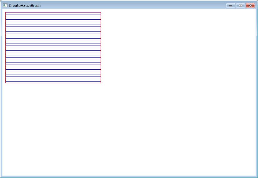 赤い外枠に青い横縞線の矩形