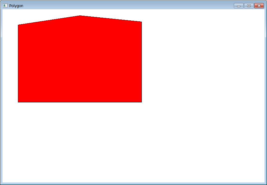 こんな五角形が描画された