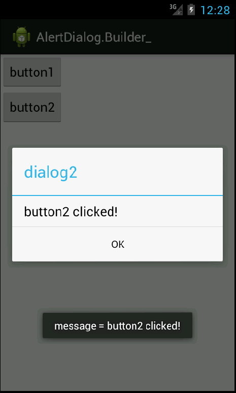 button2 clicked!