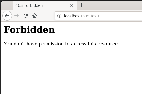 localhostだとForbidden