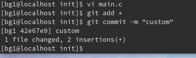 patch用のcommit