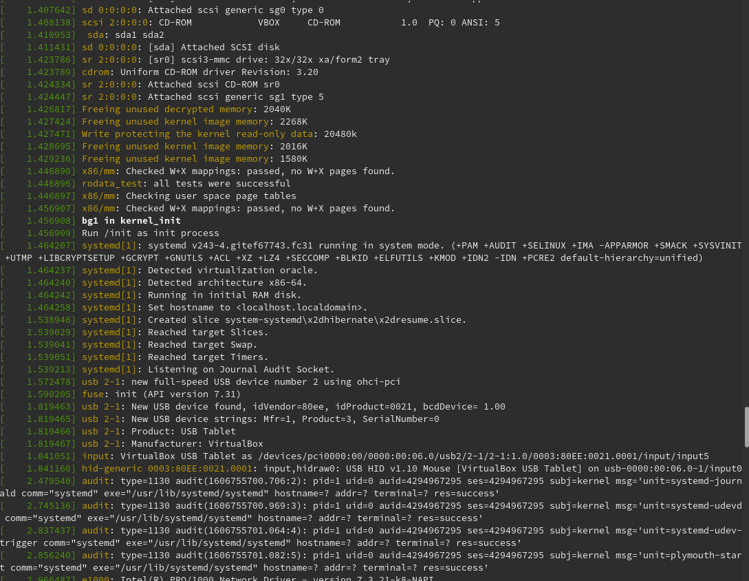 """随分と下に行くと、""""bg1 in kernel_init""""があった。"""