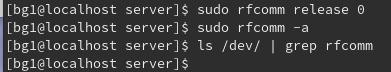 releaseして、一覧に残っていない状態で、またrfcommでアドレス登録してからなら、またacceptできるとおもう。