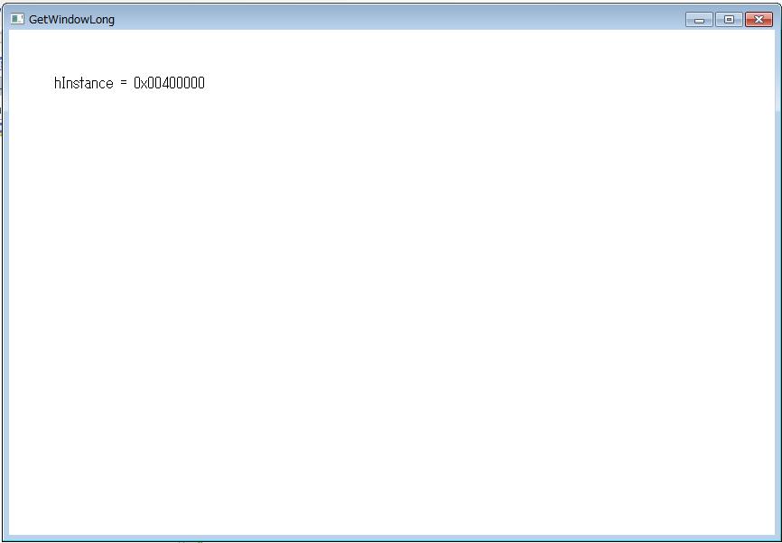 GetWindowLongで取得したhInstanceも0x00400000