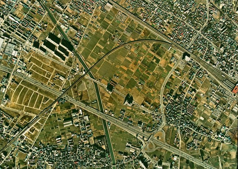 昭和49年の西船橋駅付近