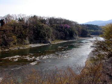 ◆鉢形城遠景 <手前の川は荒川>