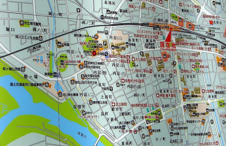 福知山城周辺図