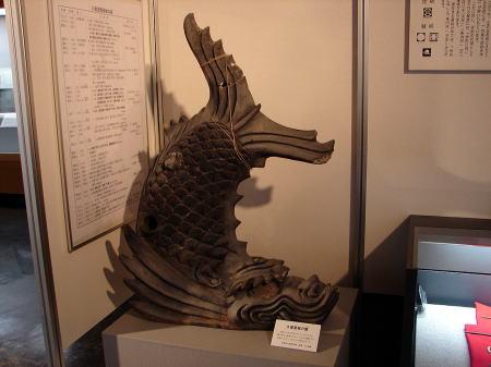 久留里城の鯱(資料館展示物より)