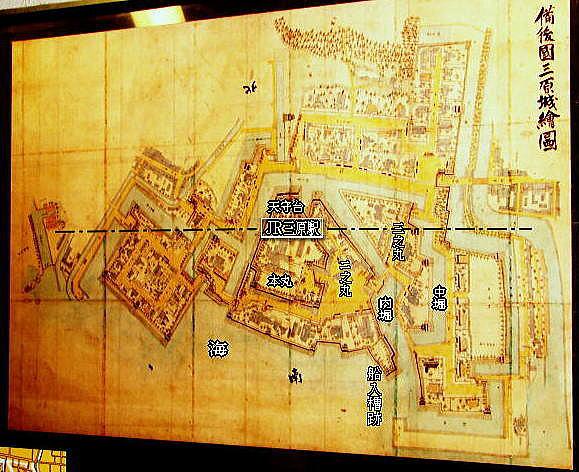 備後国三原城絵図