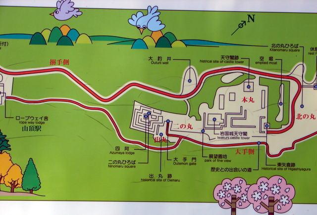 岩国城郭案内図