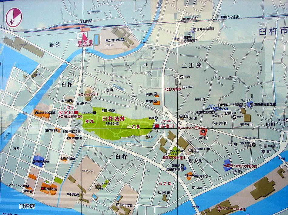 臼杵城跡周辺図